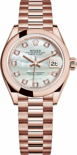 Rolex Lady-Datejust 28 Mother of Pearl Diamond Watch 279165