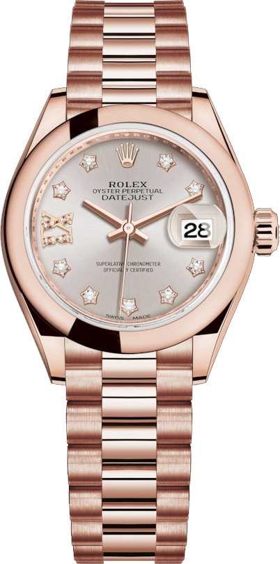 new style 32adf 046b6 Rolex Lady-Datejust 28 Rose Gold Watch 279165 - image 0 ...