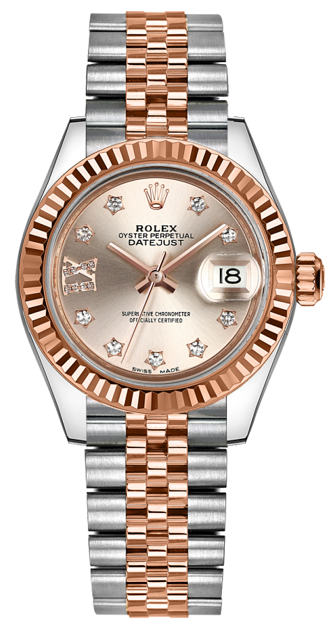 Rolex Lady,Datejust 28 Stainless Steel \u0026 Rose Gold Women\u0027s Watch 279171