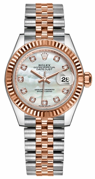Rolex Lady-Datejust 28 Mother of Pearl Diamond Watch 279171
