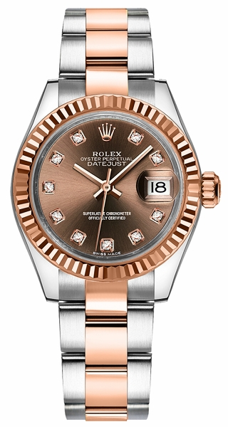 Rolex Lady-Datejust 28 Gold & Steel Watch 279171