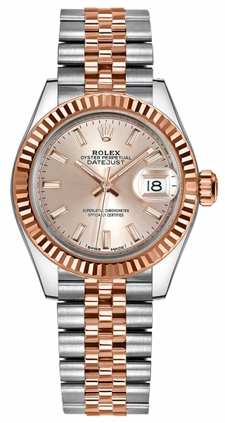 Rolex Lady-Datejust 28 Rose Gold & Stainless Steel Watch 279171