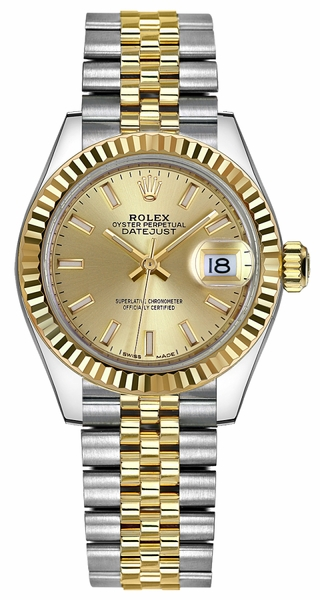 Rolex Lady-Datejust 28 Champagne Dial Watch 279173