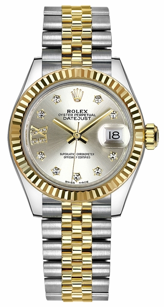 Rolex Lady-Datejust 28 Solid 18K Yellow Gold & Steel Watch 279173