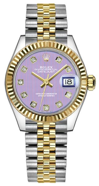 Rolex Lady-Datejust 28 Yellow Gold & Stainless Steel Watch 279173