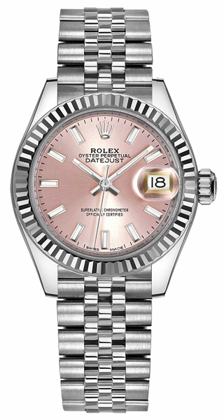 Rolex Lady-Datejust 28 Pink Dial Watch 279174
