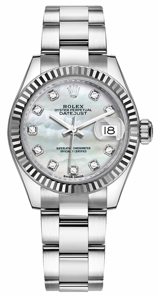 Rolex Lady-Datejust 28 Mother of Pearl Diamond Watch 279174