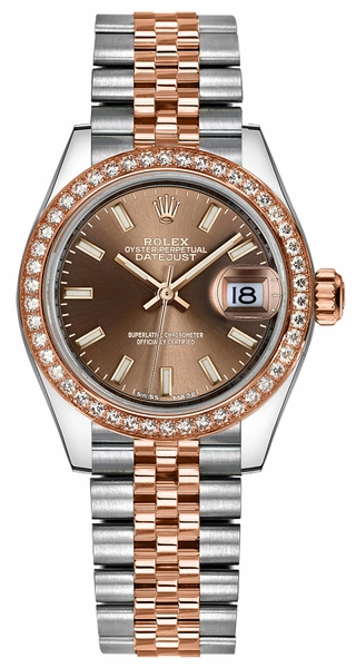 Rolex Lady-Datejust 28 Rose Gold & Stainless Steel Watch 279381RBR