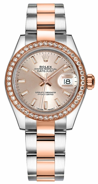 Rolex Lady-Datejust 28 Stainless Steel & Gold Watch 279381RBR