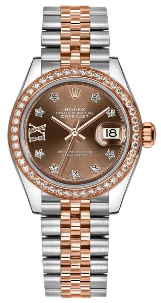 Rolex Lady-Datejust 28 Jubilee Bracelet Gold & Steel Watch 279381RBR