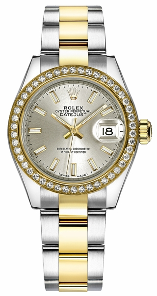 Rolex Lady-Datejust 28 Silver Dial Watch 279383RBR