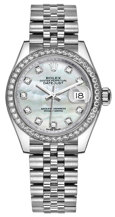 Rolex Lady,Datejust 28 Diamond Women\u0027s Watch 279384RBR