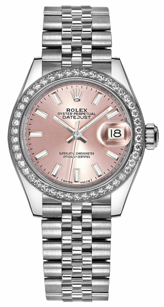 Rolex Lady-Datejust 28 Pink Dial Watch 279384RBR