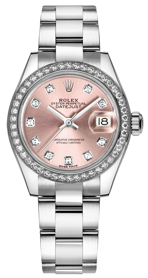 279384rbr Rolex Women S 28mm Pink Diamond Watch