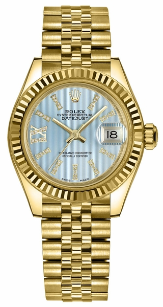 Rolex Lady-Datejust 28 Blue Diamond Women's Watch 279178