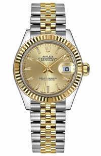 Rolex Lady-Datejust 28 Champagne Dial Watch 279173-0001