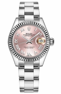 Rolex Lady-Datejust 28 Pink Roman Numeral Dial Watch 279174