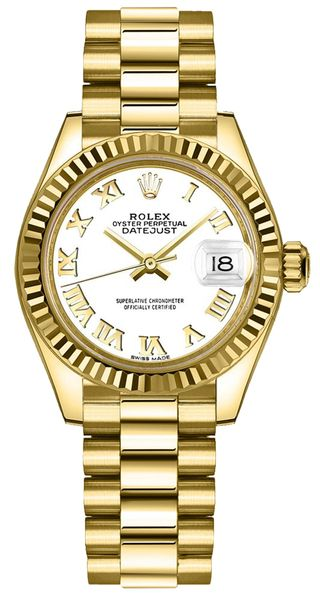 Rolex Lady-Datejust 28 President Bracelet Women's Watch 279178