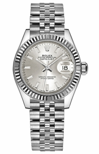 Rolex Lady-Datejust 28 Silver Dial Watch 279174