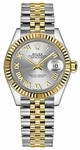 Rolex Lady-Datejust 28 Silver Roman Numeral Dial Watch 279173