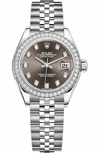 Rolex Lady-Datejust 28 Stainless Steel & White Gold Watch 279384RBR