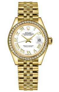 Rolex Lady-Datejust 28 White Dial Watch 279138RBR