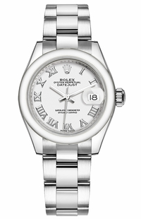 Rolex Lady-Datejust 28 White Dial Watch 279160
