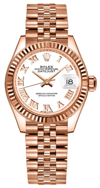 Rolex Lady-Datejust 28 White Roman Numerals Women's Watch 279175