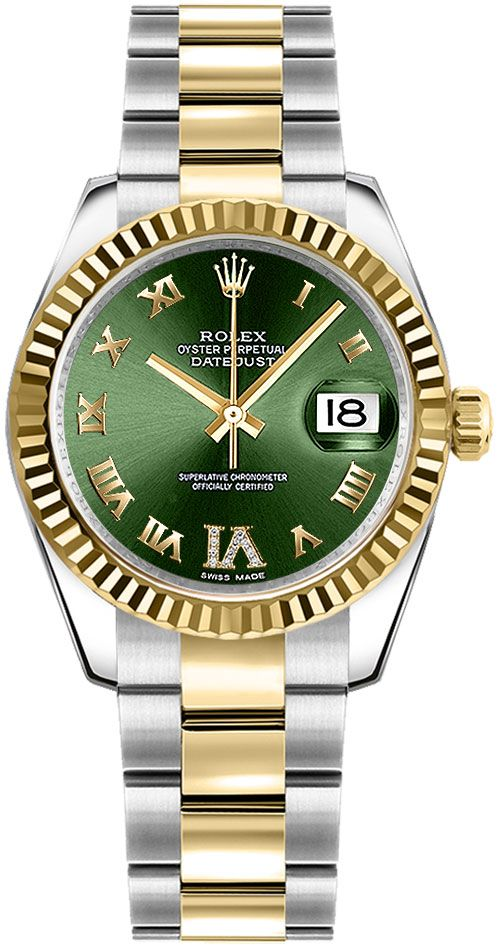Rolex Datejust 31 Green Dial Women\u0027s Watch 178273