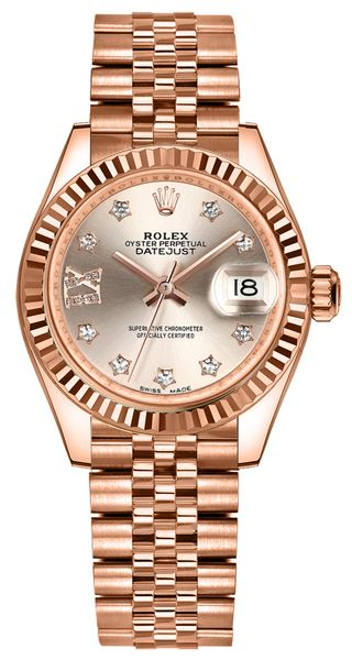 Rolex Lady-Datejust 28 Sundust Dial Diamonds Women's Watch 279175