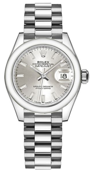 Rolex Lady-Datejust 28 Index Hour Markers Women's Watch 279166