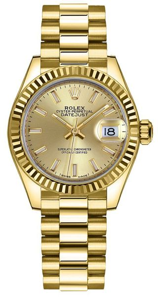 Rolex Lady-Datejust 28 Index Hour Markers Women's Watch 279178