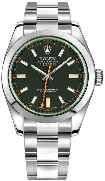 Rolex Milgauss Stainless Steel Men's Watch 116400GV