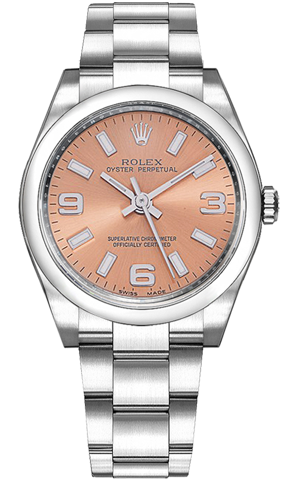114200 Rolex Oyster Perpetual 34 Women S Pink Watch