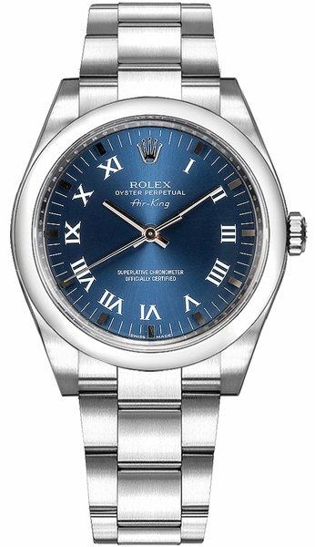Rolex Oyster Perpetual Air-King Blue Dial Men's Watch 114200