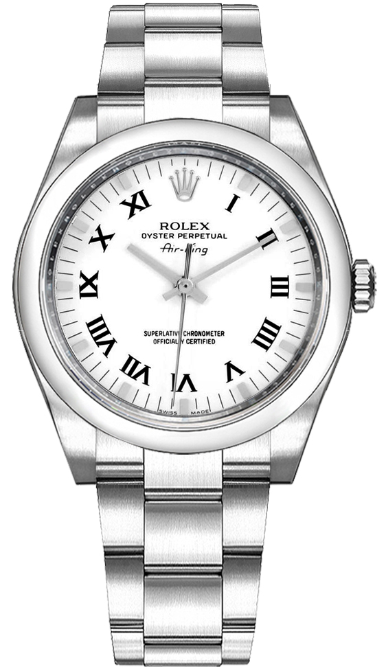 Rolex Oyster Perpetual Air King White Dial Women S Watch 114200