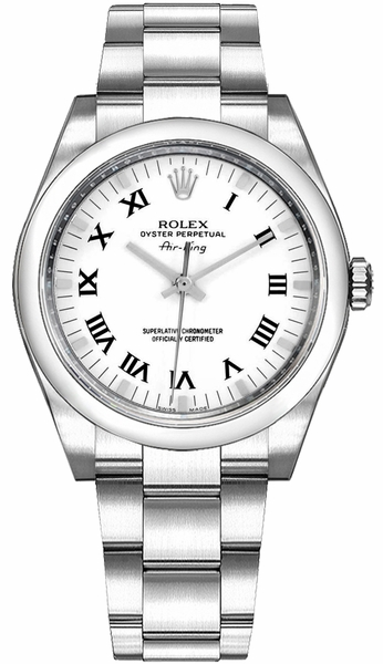Rolex Oyster Perpetual Air-King White Dial Women's Watch 114200