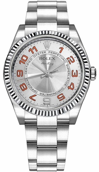 Rolex Oyster Perpetual Air-King Silver Dial Luxury Watch 114234