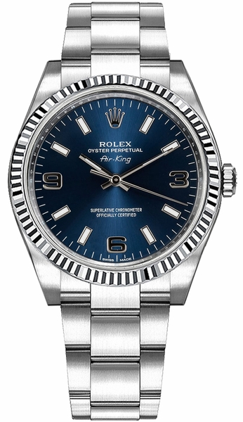Rolex Oyster Perpetual Air-King Blue Dial Watch 114234