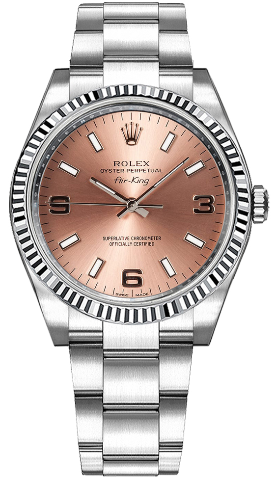 Rolex Oyster Perpetual Air King Pink Dial Women S Watch 114234