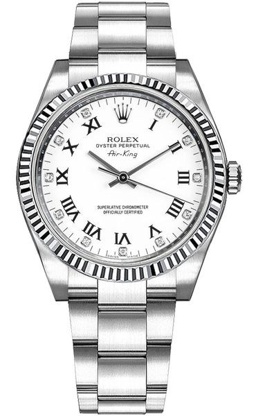 Rolex Oyster Perpetual Air-King Diamond Watch 114234