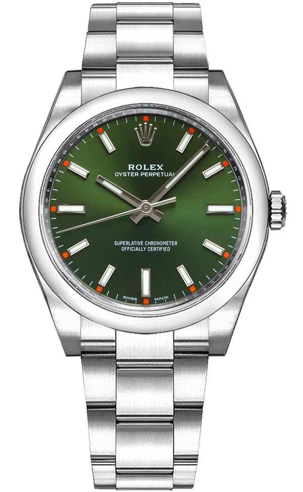 Rolex_Oyster_Perpetual_34_Green_Dial_Luxury_Watch_114200