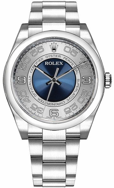 Rolex Oyster Perpetual 36 Blue & Silver Dial Watch 116000