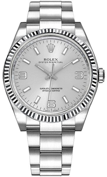 Rolex Oyster Perpetual 36 Silver Dial Women's Watch 116034