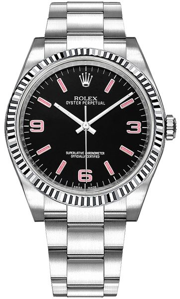Rolex Oyster Perpetual 36 Black Dial Watch 116034