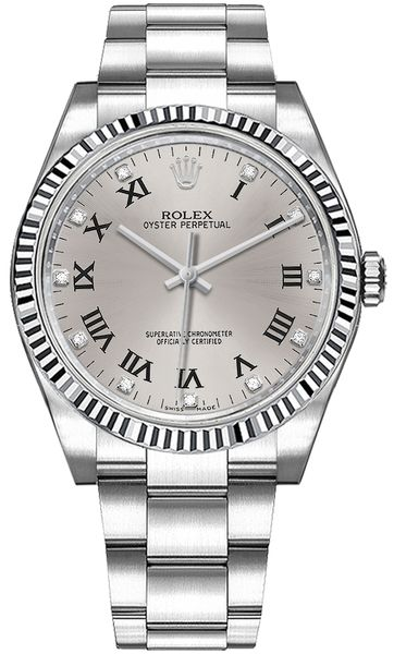 Rolex Oyster Perpetual 36 Silver Dial Watch 116034