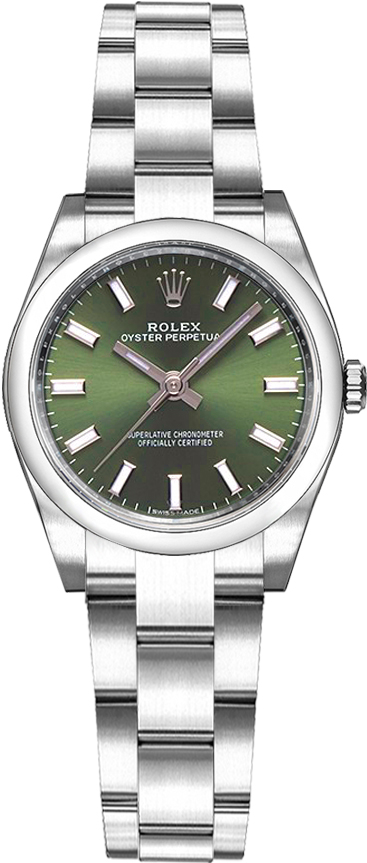 Rolex Oyster Perpetual 176200 Womens Olive Green Automatic Swiss ... 01896b7d76