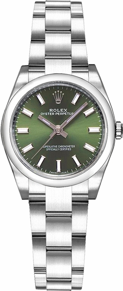 Rolex Oyster Perpetual 26 Green Dial Watch 176200