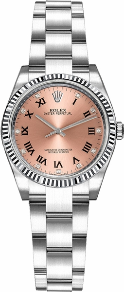 Rolex Oyster Perpetual 26 Pink Diamond Watch 176234