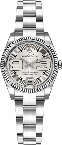Rolex Oyster Perpetual 26 Silver Dial Oyster Bracelet Watch 176234